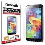 Samsung Galaxy S5 Screen Protector - iSmooth - $3.50 on Amazon