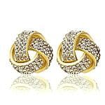 INALIS 18K Gold Fashion Triangle CZ Diamond Stud Earrings $5.13 from MIC