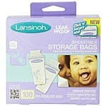 Lansinoh Breastmilk Storage Bags (100 Count) $13.60 + Free Shipping with Amazon Prime