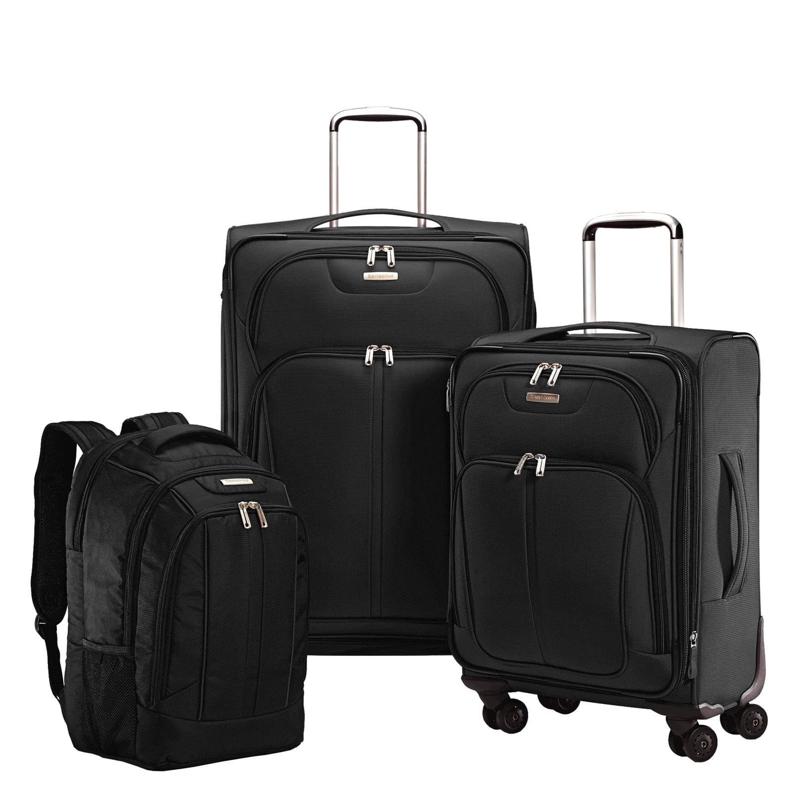 3-Piece Samsonite Versa-Lite 360 Nested Luggage Set (Black or Red ...