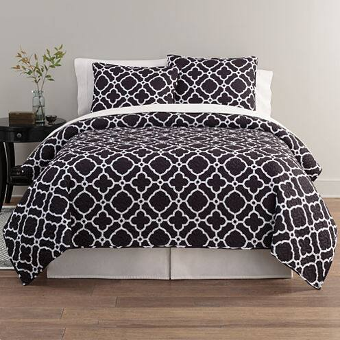 3piece home expressions quilt set queen or king 2 colors