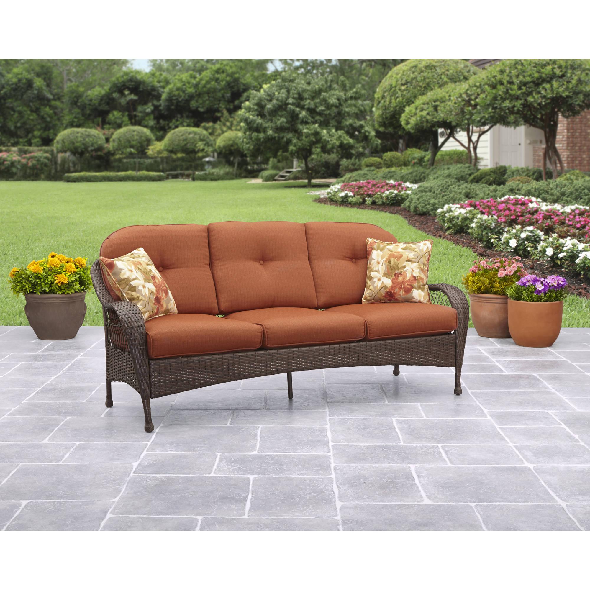 . Better Homes and Gardens Azalea Ridge Outdoor Sofa   Slickdeals net