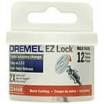 Dremel EZ456B 1 1/2-Inch EZ Lock Rotary Tool Cut-Off Wheels For Metal - 12 pieces $11.74