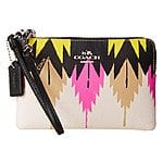 COACH Printed Crossgrain Corner Zip (Hawk Feather) $59.99 +fs @6pm.com