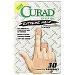 Curad Extreme Hold Bandaids 30 Count 2.23 or less with S&S
