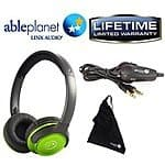 Able Planet SH190 Travelers Choice Stereo Headphones w/ Detachable Cable & Volume Control (Various Colors) $8.95 + FS