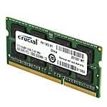 Crucial 8GB Single DDR3 1600 MT/s (PC3-12800) CL11 SODIMM 204-Pin 1.35V/1.5V Notebook Memory for $38.99 free shipping
