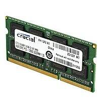 Amazon Deal: Crucial 8GB Single DDR3 1600 MT/s (PC3-12800) CL11 SODIMM 204-Pin 1.35V/1.5V Notebook Memory for $38.99 free shipping