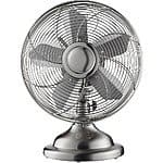 "Insignia™ 12"" Retro Table Fan Stainless Steel $25.99 + FS @ Best Buy"