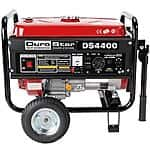 DuroStar 4400 Watt Quiet Portable Recoil Start Gas Powered Generator DS4400 $249.99 + Free Shipping