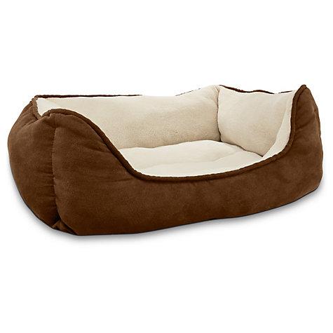 petco box dog bed (brown) - slickdeals
