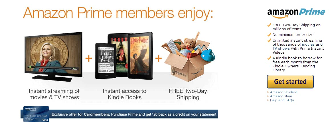 Amazon Prime $59 for amazon card members only