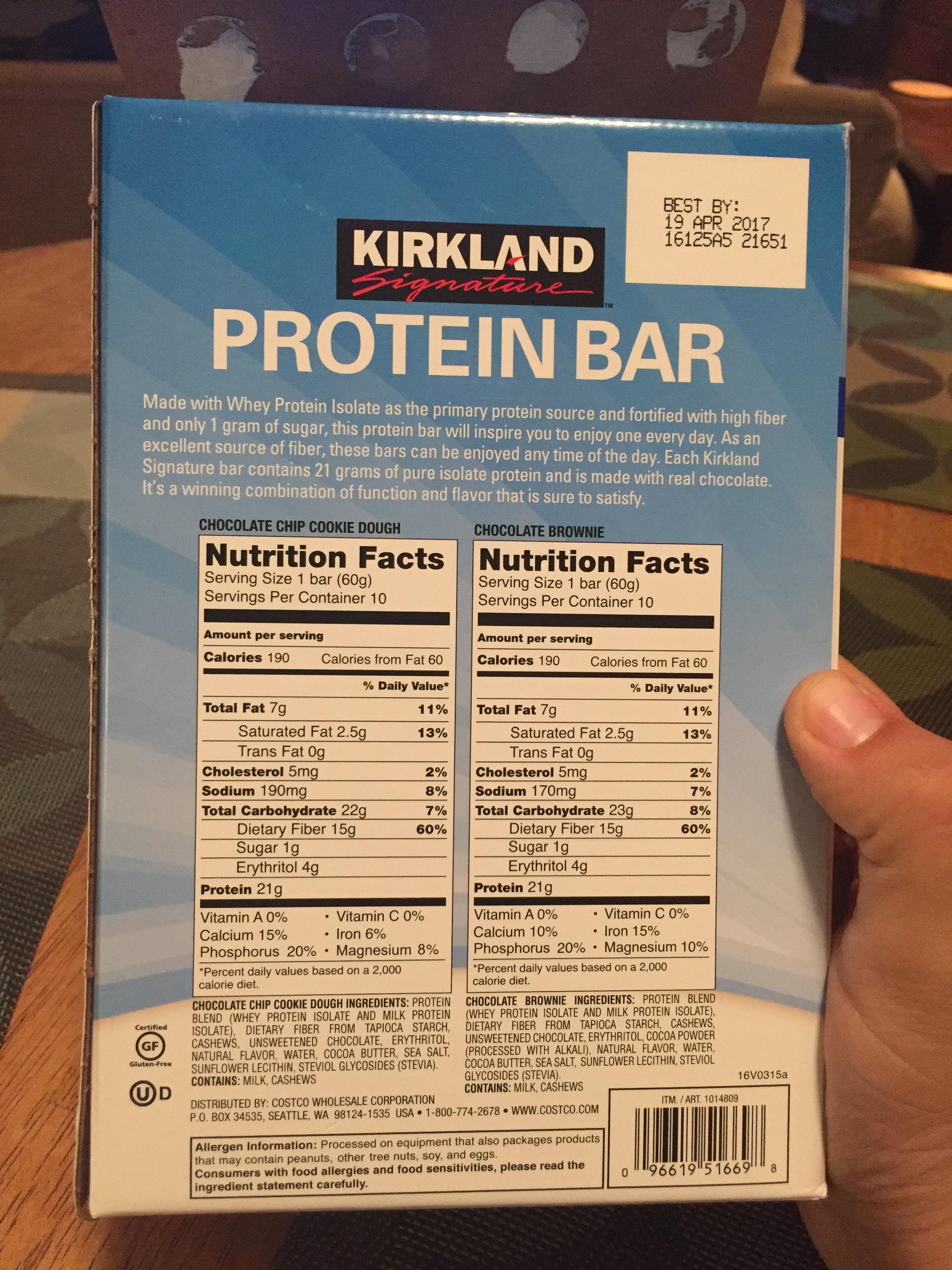 Kirkland Signature Protein Bars Bodybuilding Com Forums