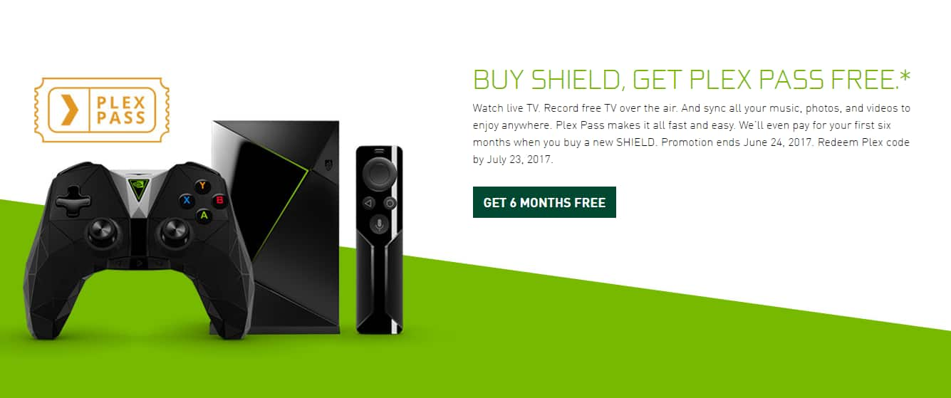 PlexPass FREE for 6 Months with Nvidia Shield TV - Slickdeals.net