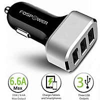 eBay Deal: Fospower 6.6A/33W 3 Port USB Car Charger $7 + Free Shipping!