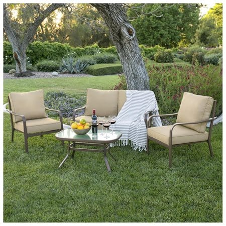 Trend Best Choice Products Piece Cushioned Patio Furniture Set w Loveseat u Chairs