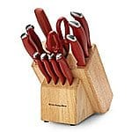Kitchen Aid Delrin 12-pc. Red Cutlery Set, $34.97+ Free Shipping