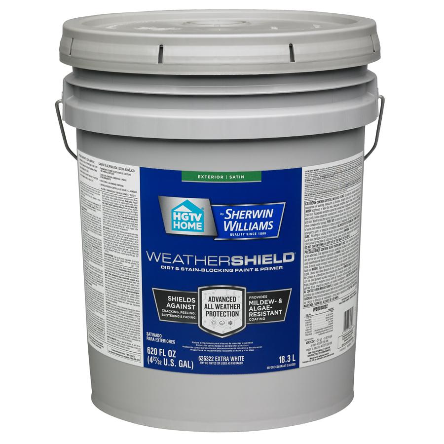 5 Gallon Sherwin-Williams Weathershield Tintable Satin Acrylic ...