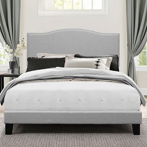Awesome Bedroom Possibilities Upholstered Queen Bed various styles Slickdeals net