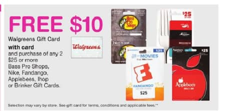 Buy Two $25 Gift Cards from Walgreens And Get A Free $10 Walgreens ...