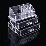 Ohuhu Makeup Cosmetics Organizer Acrylic Transparent 2 Drawers Storage Box for $12.99 AC + FSSS @ Amazon.com