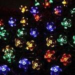 InnooTech 50 Led RGB Blossom Solar Lights Outdoor String Fairy Decorative Flower for $10.49 AC, 7M 100 LED for $10.89 AC + FSSS @ Amazon.com