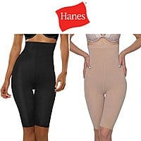 Shnoop Deal: Hanes Women's Hi-Waist Thigh Shaper (Black or Nude Color) $5.99 with free shipping