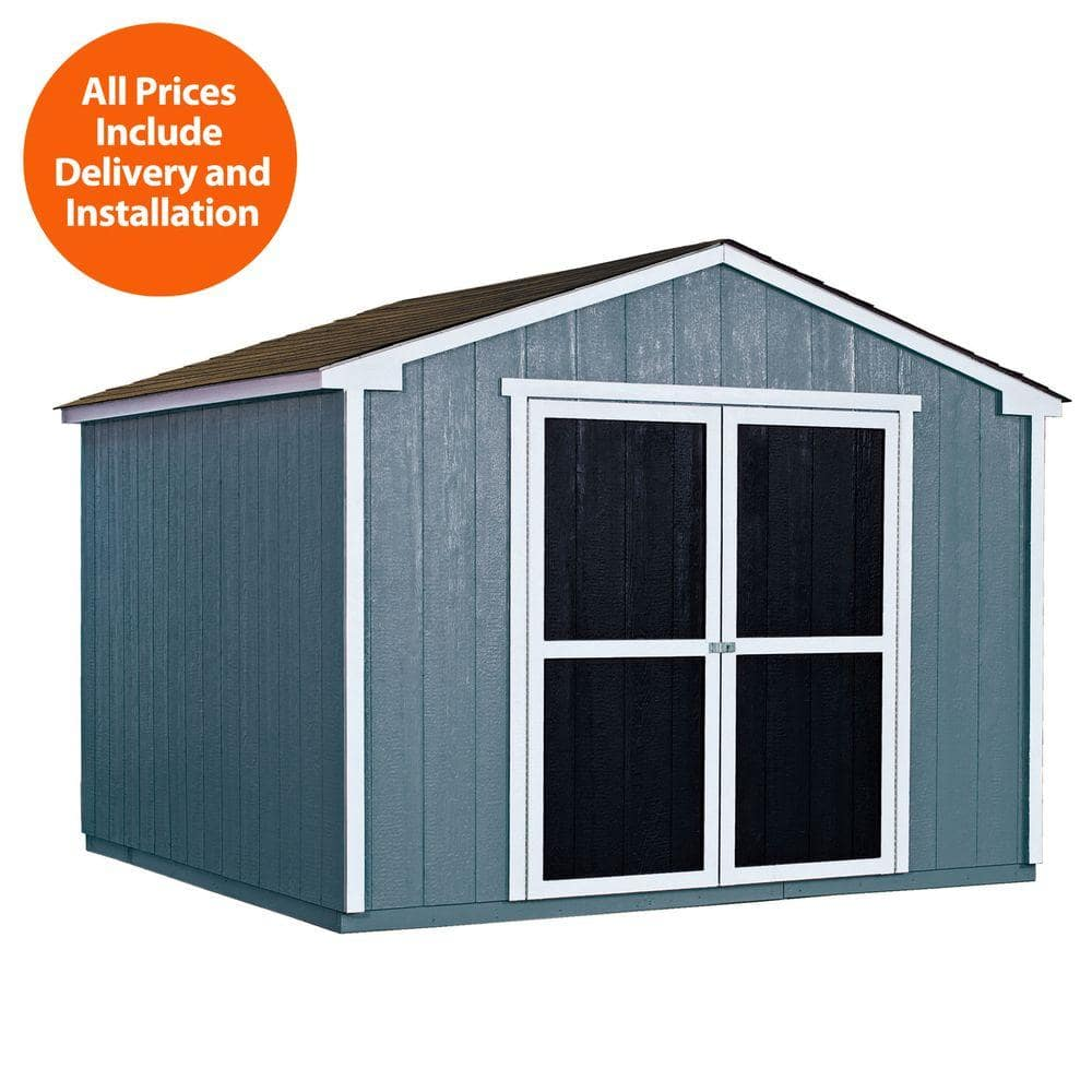Installed Princeton 10 Ft. X 10 Ft. Wood Storage Shed With Driftwood  Shingles   Handy Home Products  $1619.10+tax   Slickdeals.net