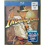 Indiana Jones blu-ray box set $24.99 @ BJs B&M