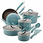 Rachael Ray Cucina agave blue 12 pc nonstick cookware set $73.99 AR + $20 Kohls cash