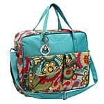 MG Collection Green or Blue Floral Baby Bag --- $14.99 + FS w/ Amazon Prime (Orig. $22.50)
