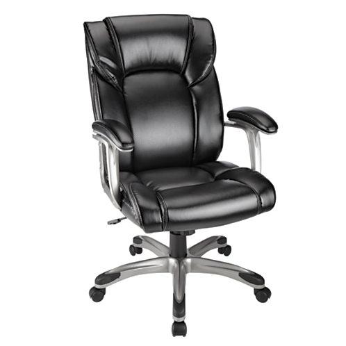 Beautiful Realspace Salsbury High Back Chair Black or Dark Brown Slickdeals net