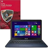 "TigerDirect Deal: McAfee Multi-Access Bundles: ASUS EeeBook X205TA Refurbished 11.6"" Notebook $79.99"