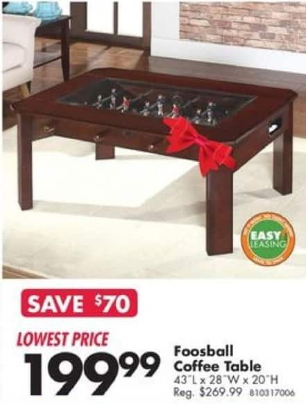Big Lots Black Friday Foosball Coffee Table for 19999