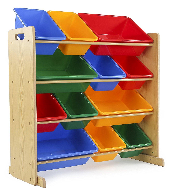 Tot Tutors Kids Toy Storage Organizer With 12 Plastic Bins   Amazon $39.09  W/ Prime