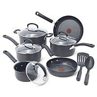 Amazon Deal: 12-Piece T-Fal E918SC Ultimate Hard Anodized Nonstick Thermo Spot Heat Cookware Set (Gray) $79.99 + Free Shipping