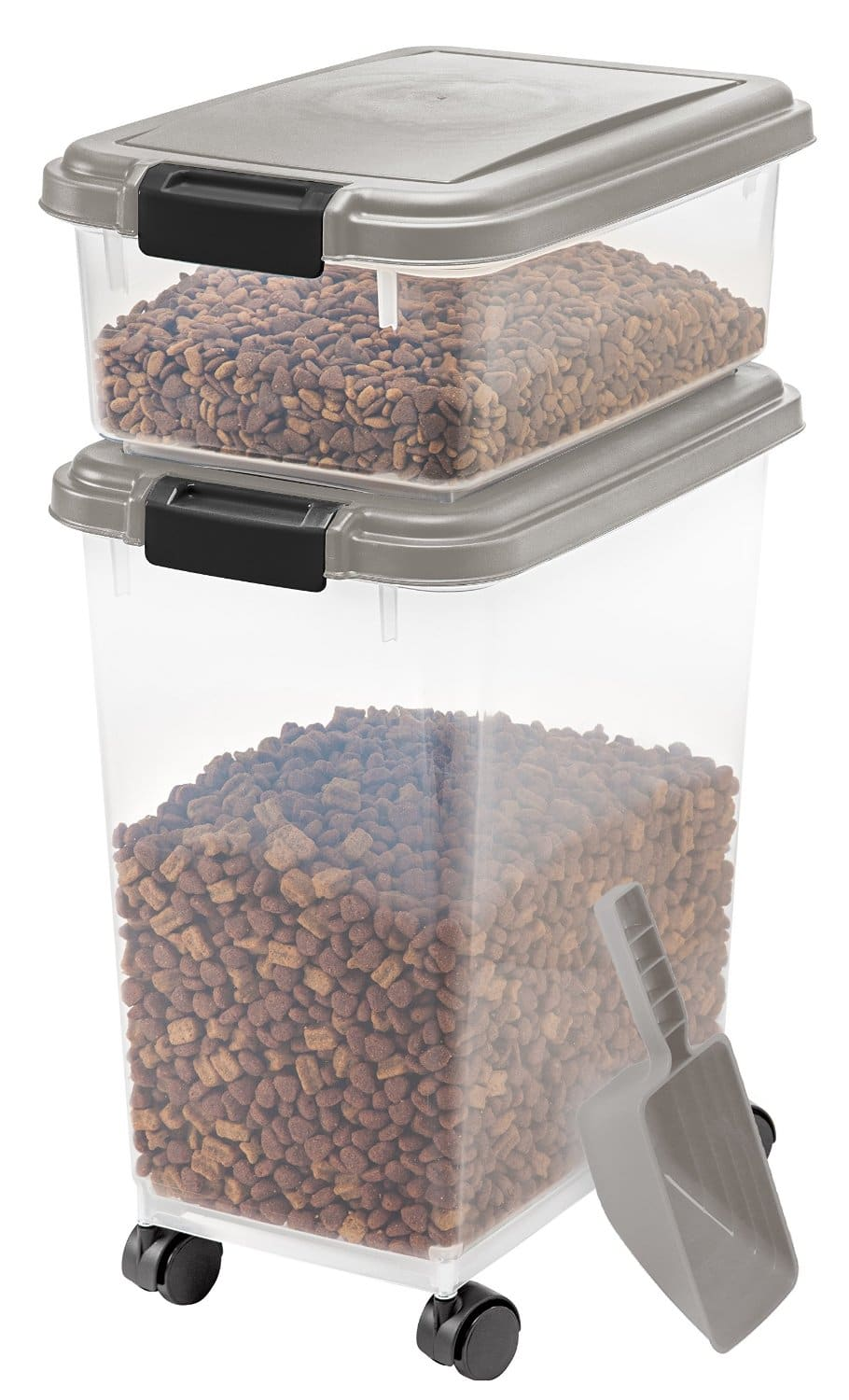 2-Piece IRIS Airtight Pet Food Container Combo Kit (Chrome)  $18.75 + Free In-Store Pickup
