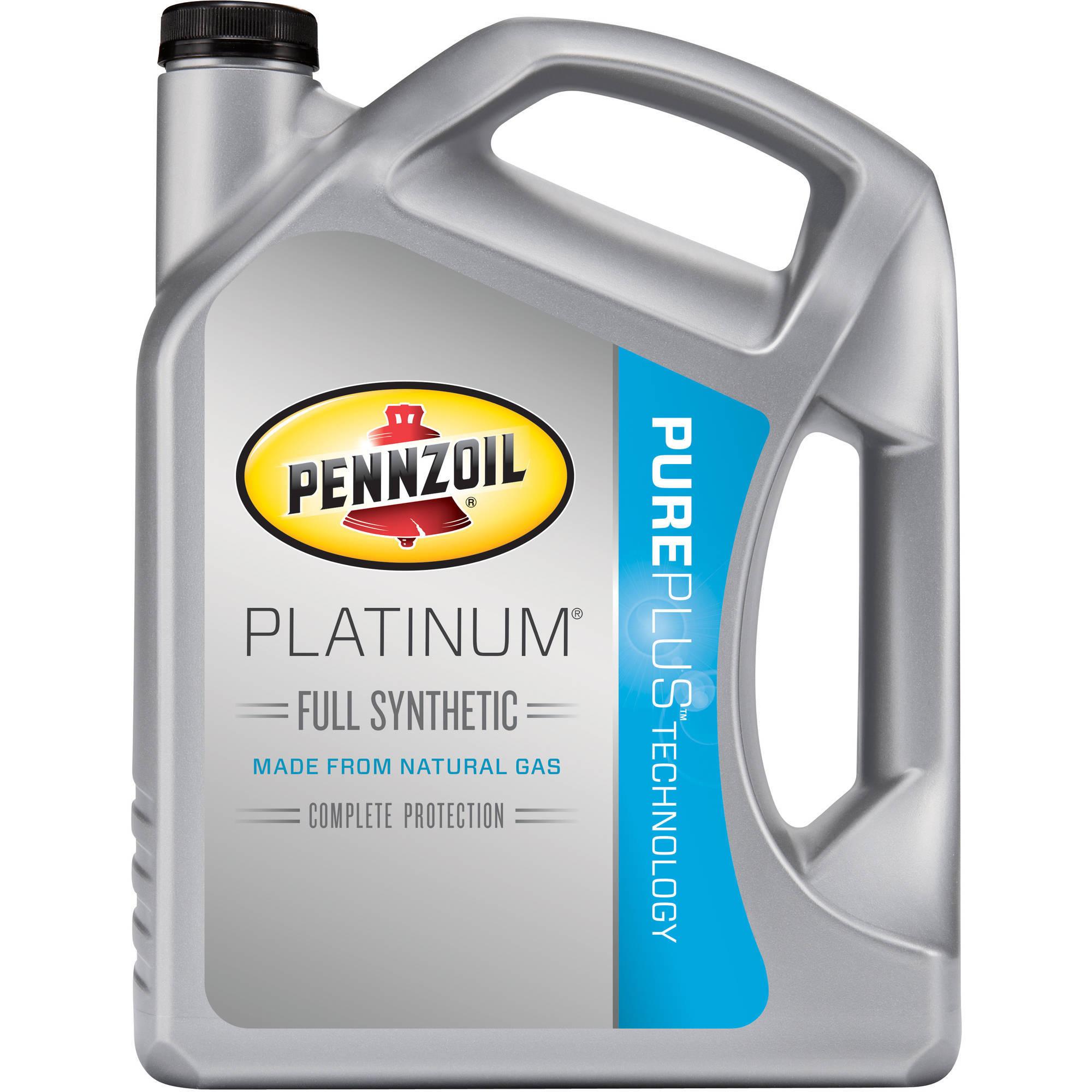 5-Quart Pennzoil Platinum Full Synthetic Motor Oil (0W-20 ...