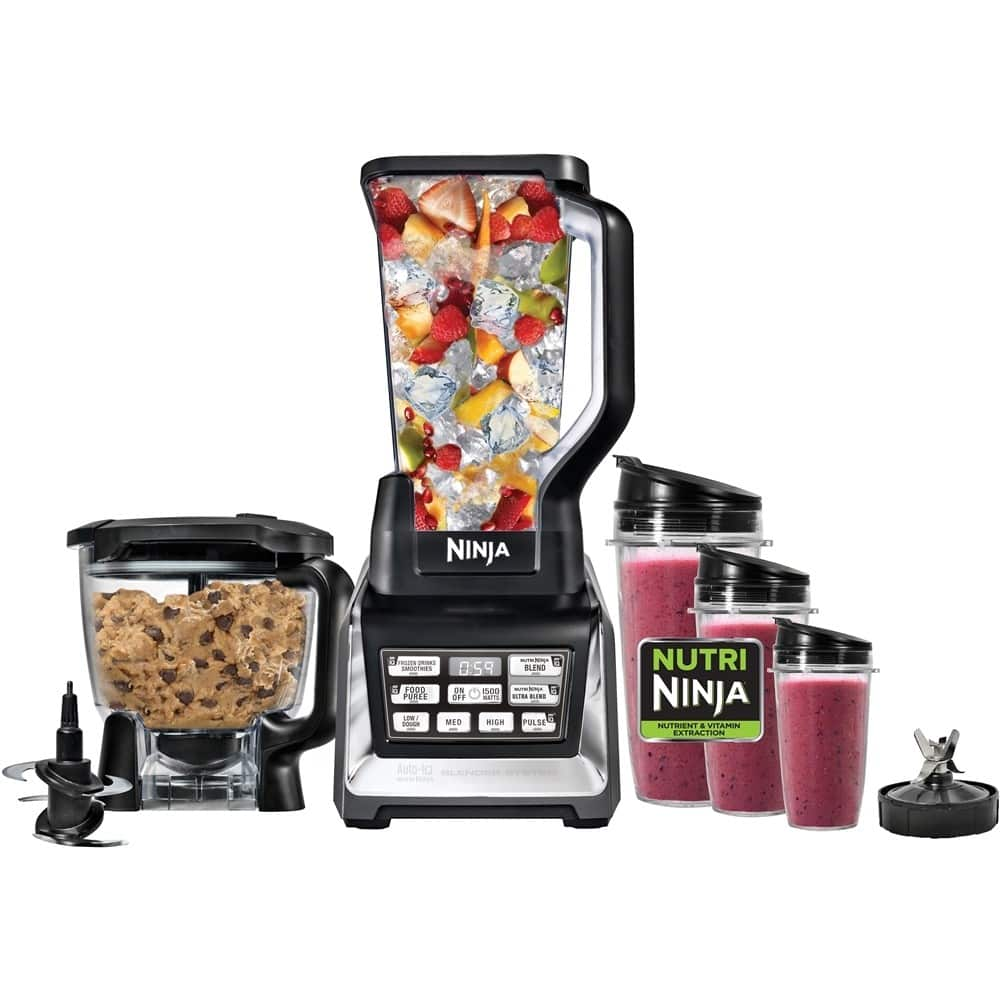 Nutri ninja blender system with auto iq technology - Nutri Ninja 72 Oz 1500w Blender W Auto Iq 3x Nutri Ninja Cups Slickdeals Net