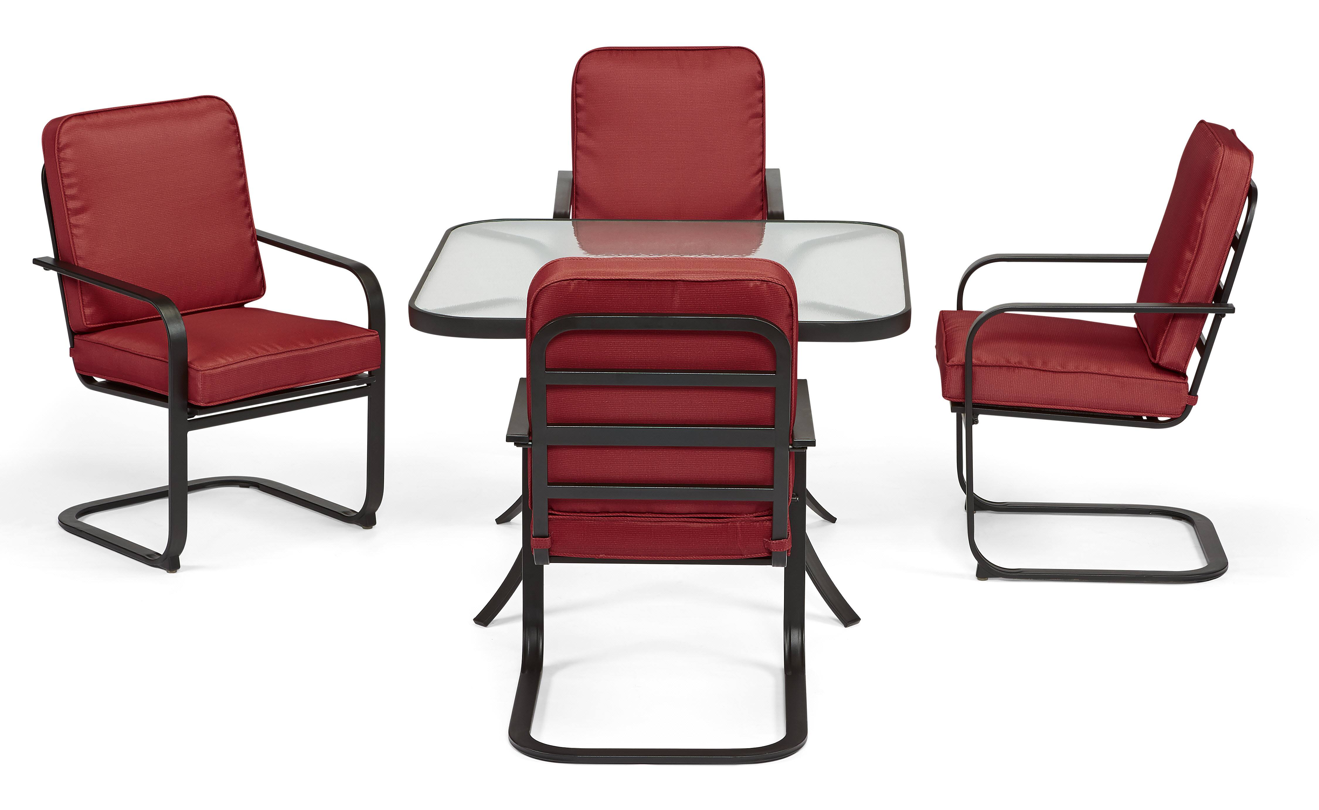 Essential Garden Bisbee Set of 4 Dining Chairs Red $189 00 at