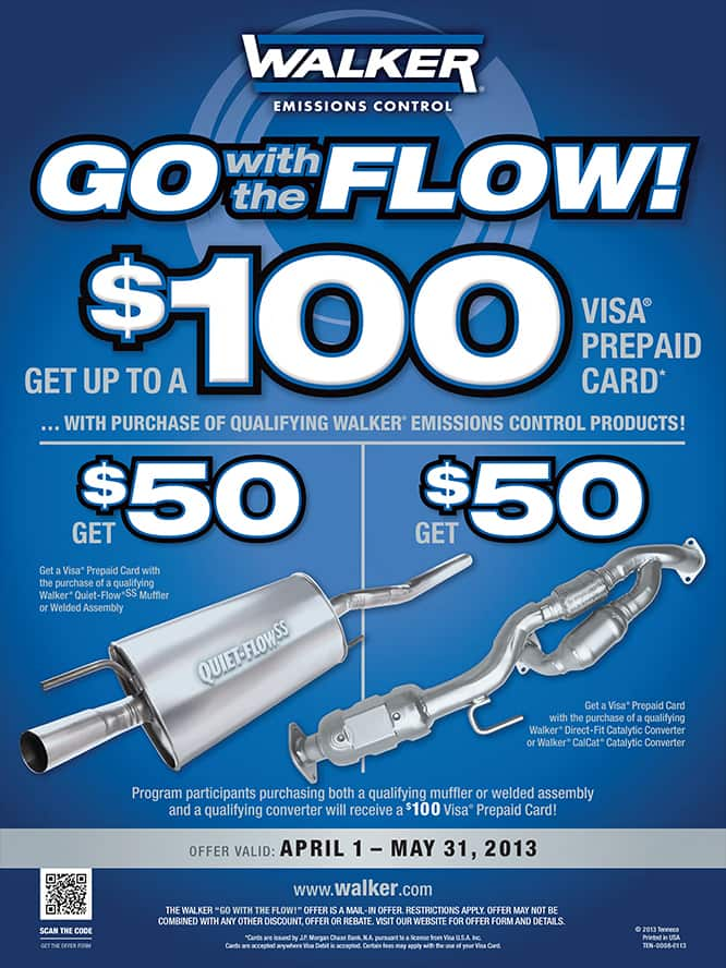 Walker Quiet-Flow Muffler - Free After Rebate w/ Store Pick-up or $11 Shipping **AND MORE! MUFFLERS AND CATALYTIC CONVERTERS!**