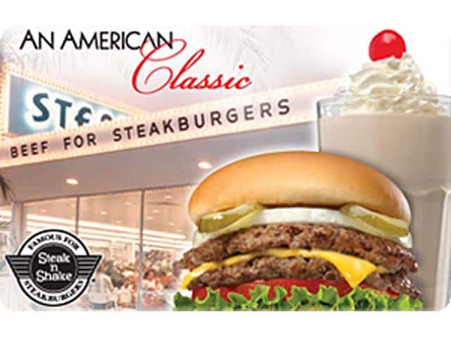 $25 Steak N' Shake Gift Card (Digital Delivery) - Slickdeals.net