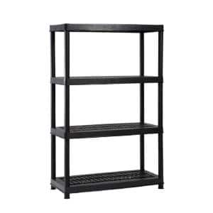 HDX 4-Shelf Black Plastic Ventilated Storage Shelving Unit $20 + Free store pick-up
