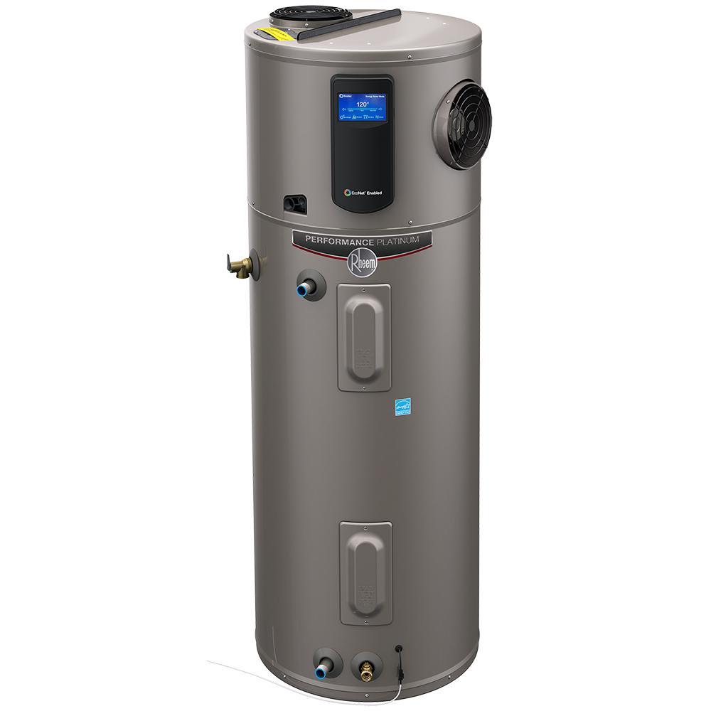 Hybrid Rebates Rheem Hybrid Electric Water Heater 80 Gal 1598 50 Gal