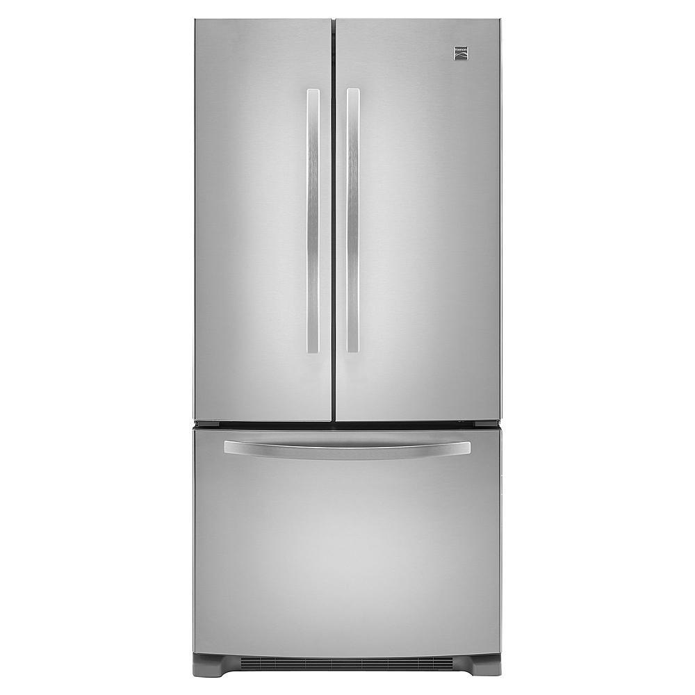 kenmore bottom freezer refrigerator. kenmore 22.1 cu. ft. french door stainless steel refrigerator - slickdeals.net bottom freezer