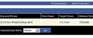 Facebook Deal Alerts
