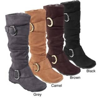 Overstock Deal: Bamboo by Journee Women's 'Jester-01' Slouch Boots with Buckle