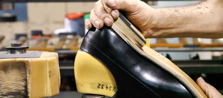 Cobbler Making a Men's Dress Shoe