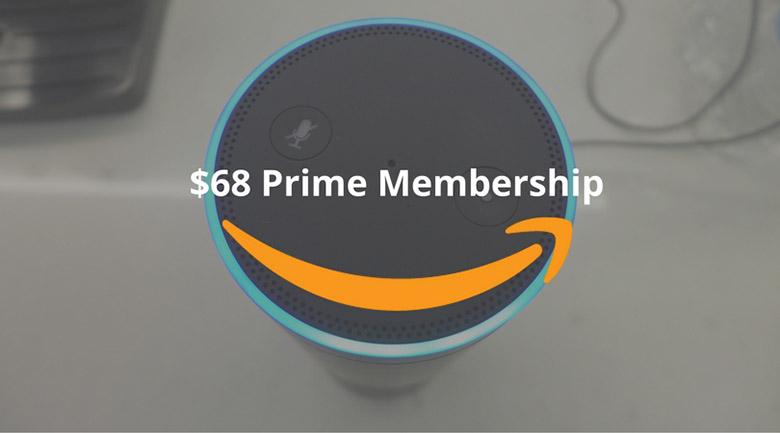 Amazon prime memberships for $68