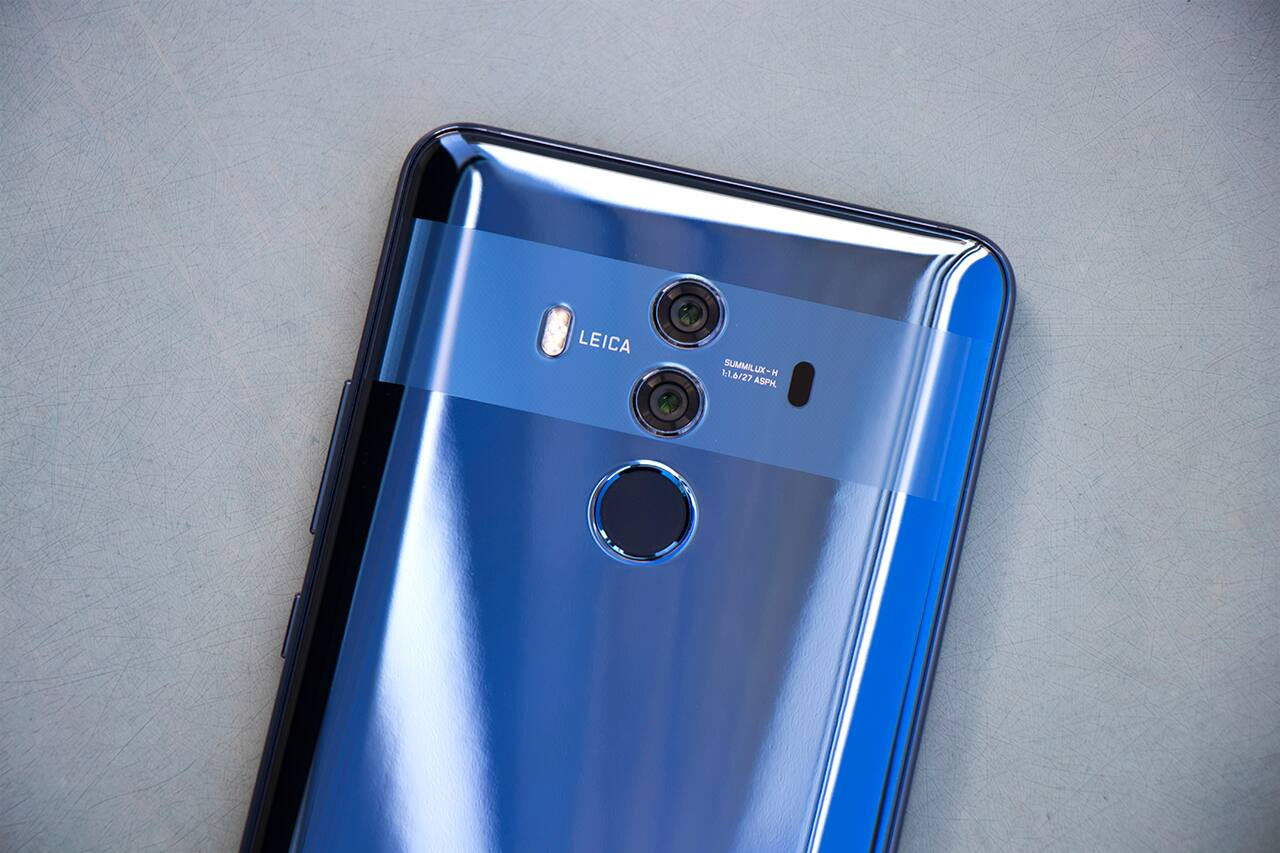 Huawei Mate 10 Pro smartphone Leica dual camera and fingerprint reader